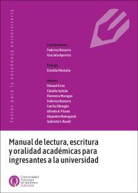 Manual de lectura, escritura y oralidad académicas para ingresantes a la universidad