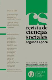 Revista de Ciencias Sociales. Segunda época Nº 25