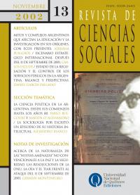 Revista de Ciencias Sociales Nº 13