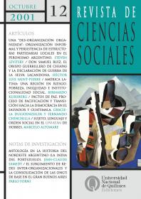 Revista de Ciencias Sociales Nº 12