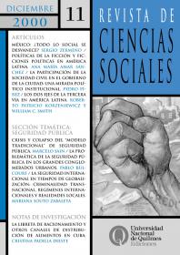 Revista de Ciencias Sociales Nº 11