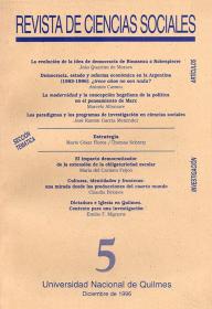 Revista de Ciencias Sociales Nº 5
