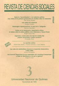 Revista de Ciencias Sociales Nº 3