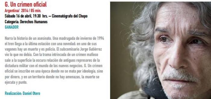 """""""G. Un crimen oficial"""" premiado en México"""